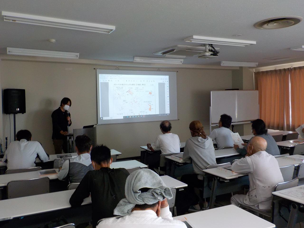 屋根職人さんへカラーベストの施工技術講習会を実施しました